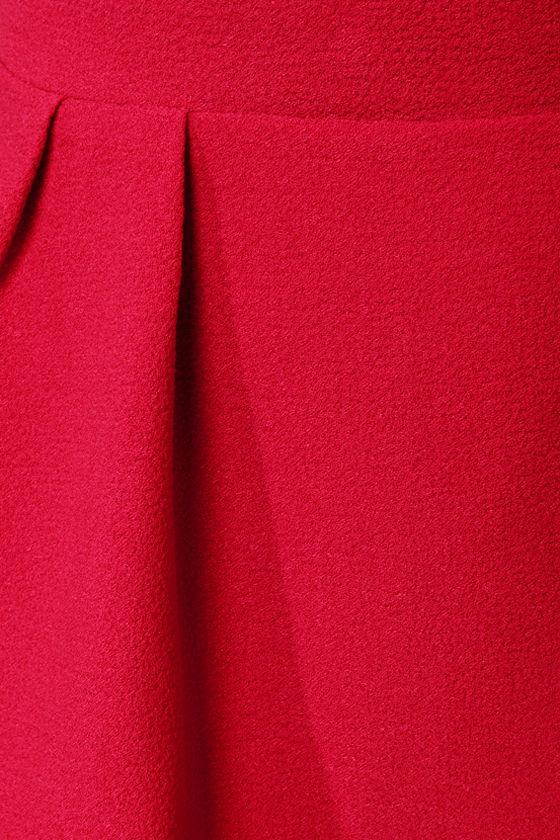 Peplum Lovin' Red Mini Skirt at Lulus.com!