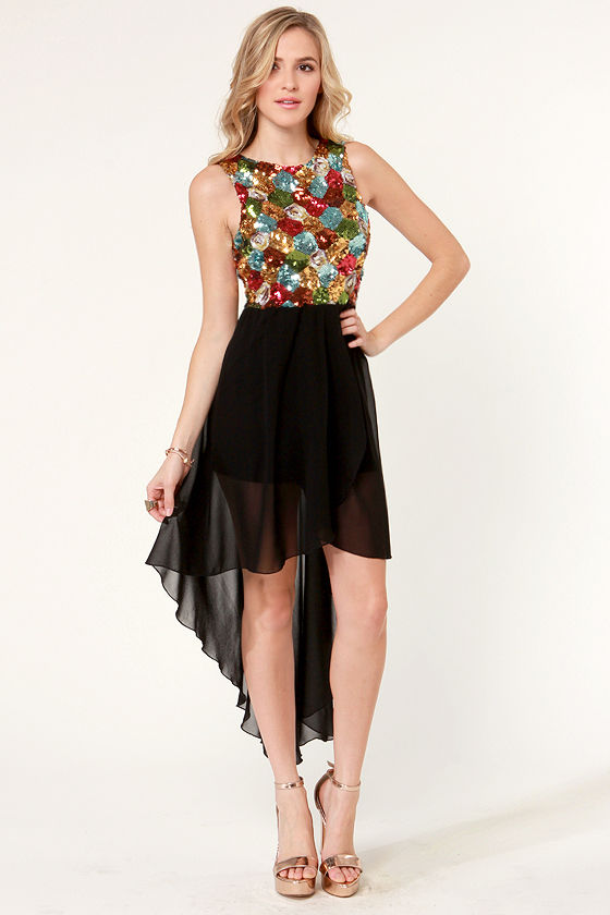 Rainbow On My Parade Sequin Dress at Lulus.com!