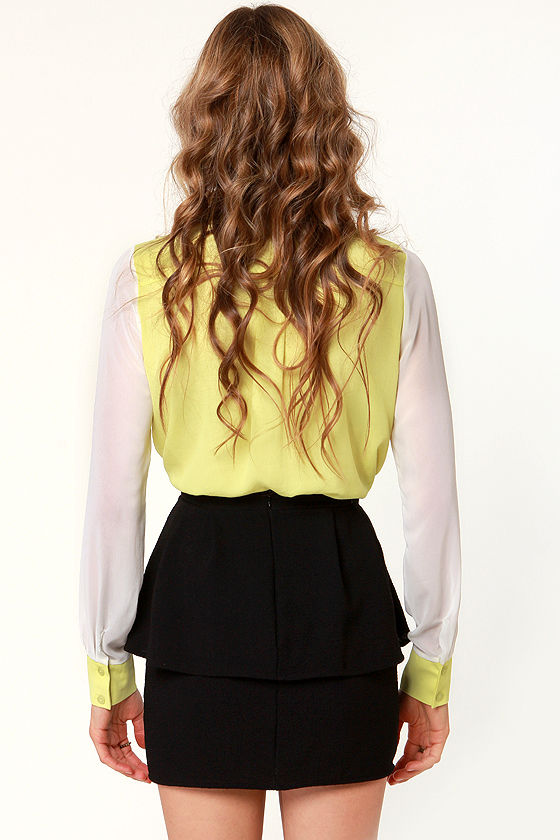 Peplum Lovin' Black Mini Skirt at Lulus.com!