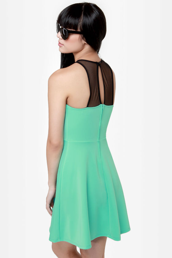 Skip to the Plunge-line Mint Green Dress at Lulus.com!