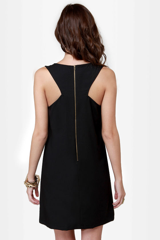 Mighty Mighty Cross-tones Studded Black Dress at Lulus.com!