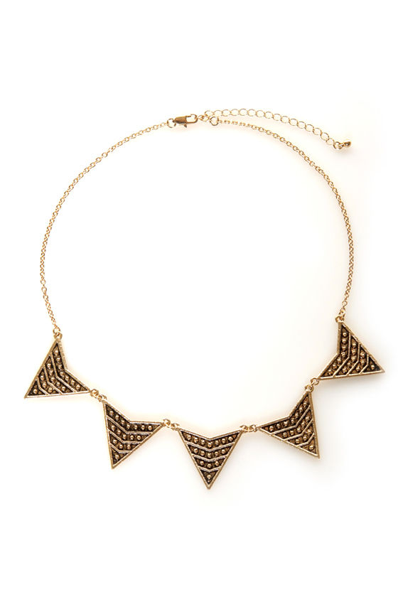 By A-point-ment Only Gold Arrow Necklace at Lulus.com!