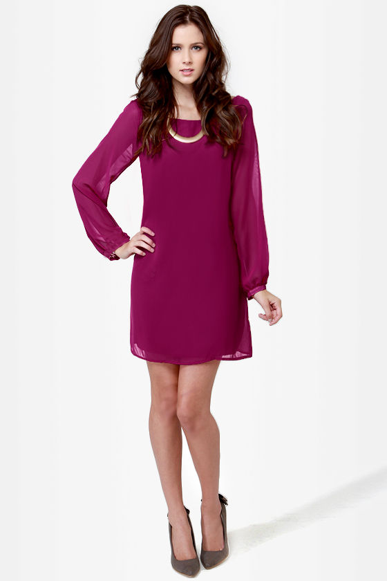 LULUS Exclusive Dream Weaver Magenta Dress at Lulus.com!