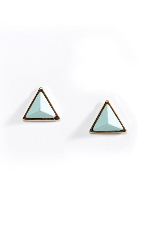 Giza Louise-a Pyramid Earrings at Lulus.com!