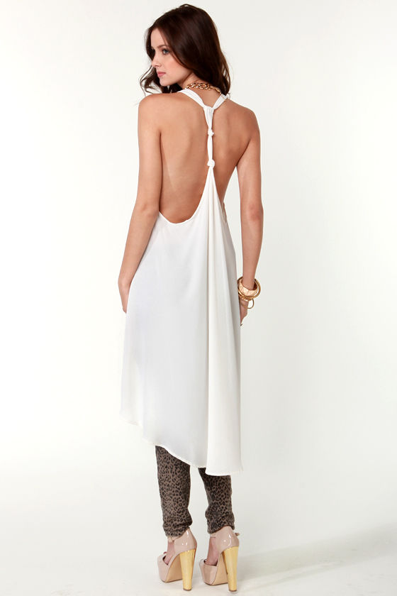 All Tied Up Ivory Tunic Top at Lulus.com!