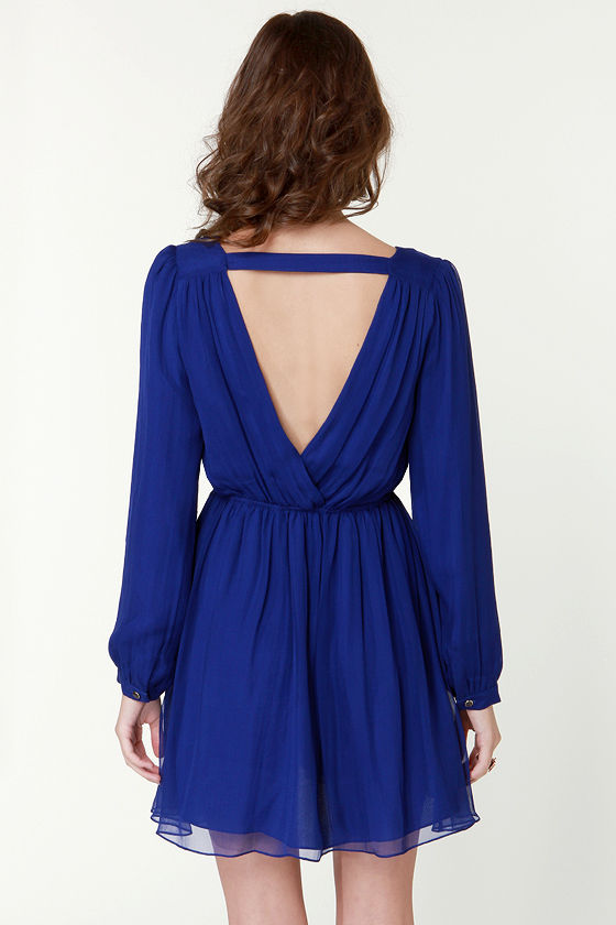 Aryn K Sunday River Waltz Silk Blue Dress at Lulus.com!