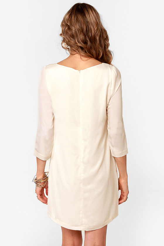 Gold Standard Metallic Cream Embroidered Dress at Lulus.com!