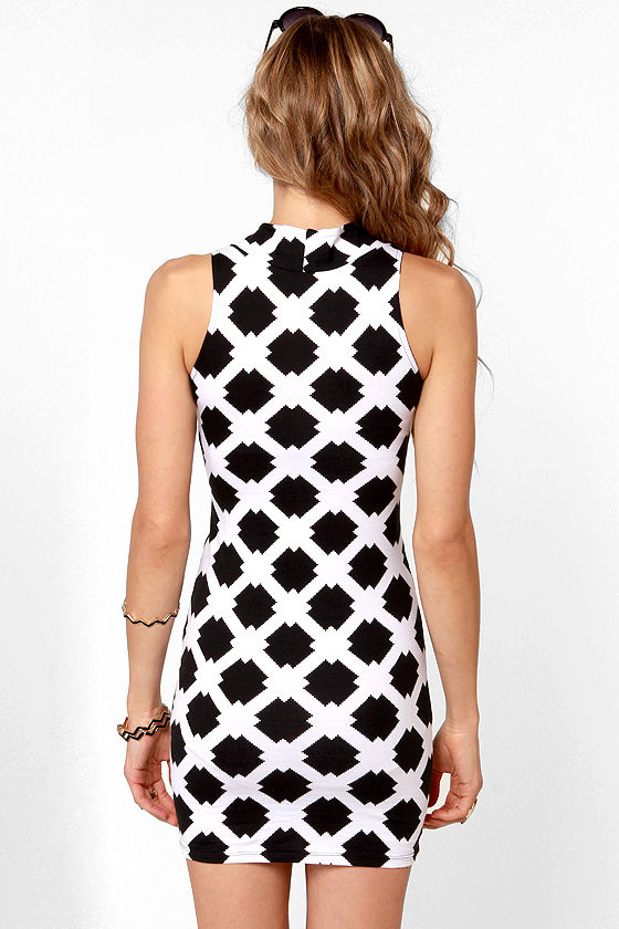 Motel Zabby Black and White Print Dress at Lulus.com!