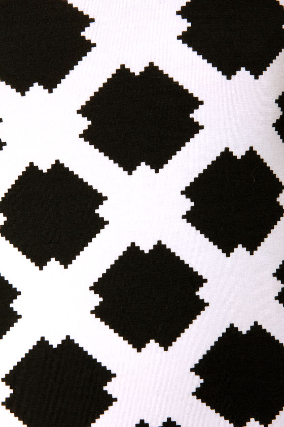 Motel Zabby Black and White Print Dress at Lulus.com!