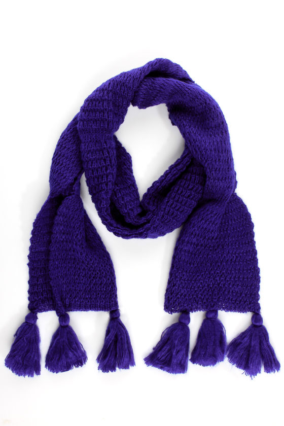 Snuggled Goods Cobalt Blue Scarf at Lulus.com!