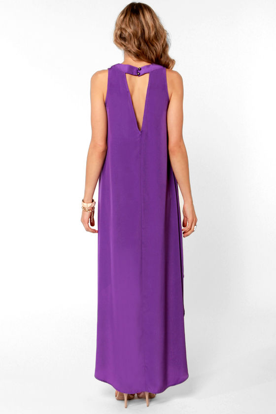 LULUS Exclusive Float On Purple High-Low Dress at Lulus.com!