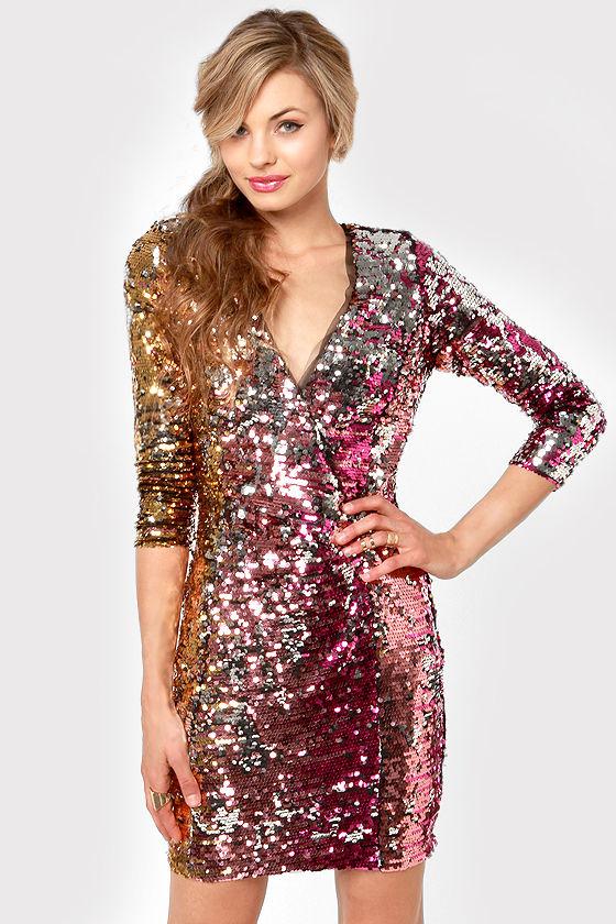 260475608d6 Rubber Ducky Dress - Sequin Dress - Multicolored Dress -  150.00