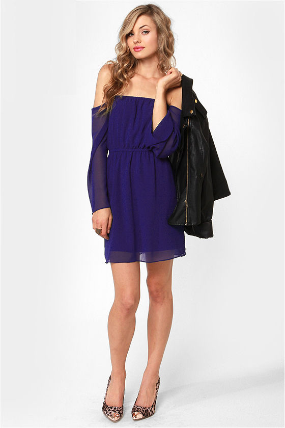 LULUS Exclusive Maiden Heaven Off-the-Shoulder Blue Dress at Lulus.com!