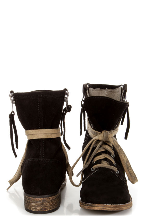 506afebf7b3 MTNG Hydra 54952 Wax Black Suede Lace-Up Ankle Boots - $139.00