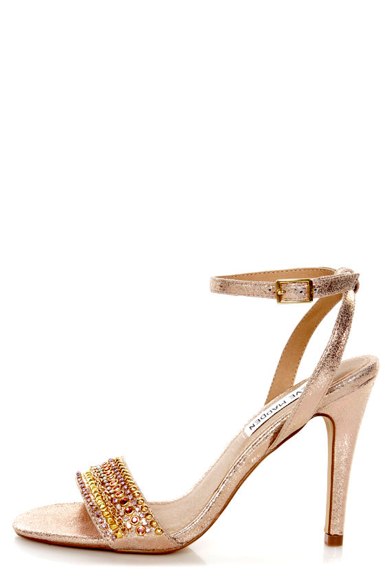 df31a85da80 Steve Madden Loverr Gold Rhinestone Embellished Heels -  99.00