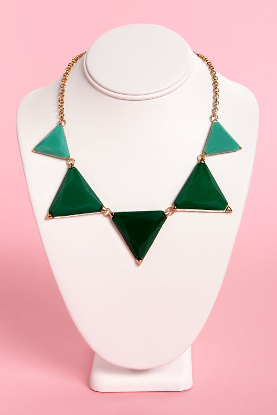 On the Other Side Green Statement Necklace at Lulus.com!