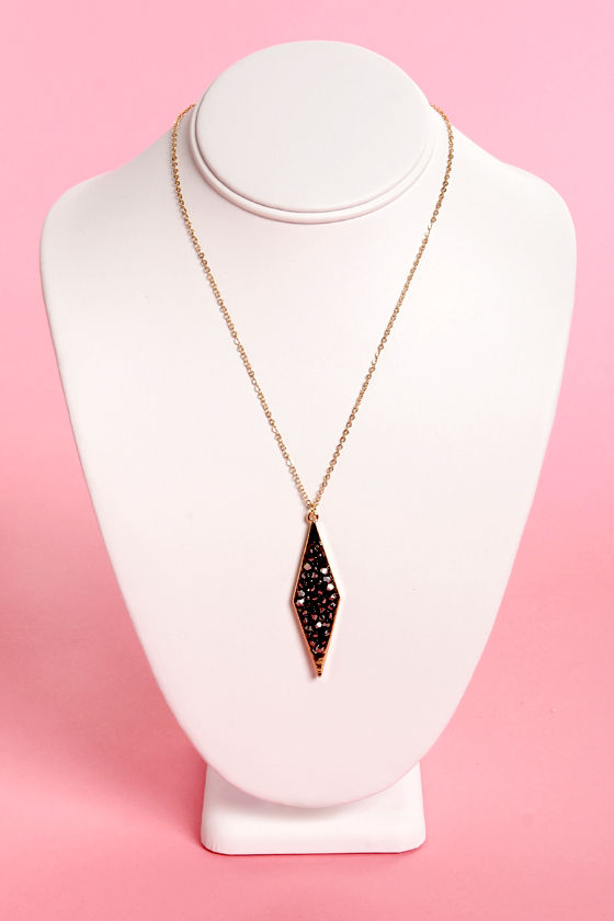 Iron Lady Gold Pendant Necklace at Lulus.com!
