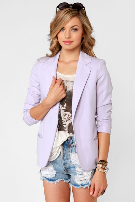 Softer Side Lavender Blazer at Lulus.com!