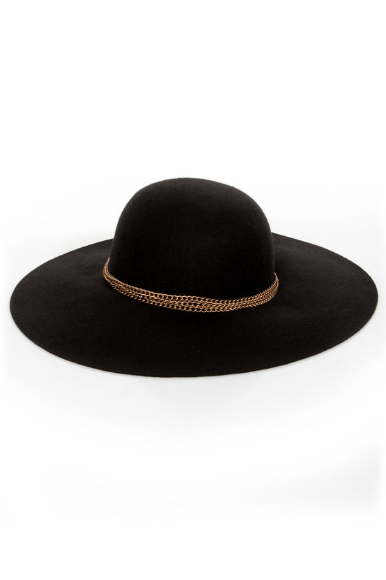 Chain-ge It Up Floppy Black Hat at Lulus.com!
