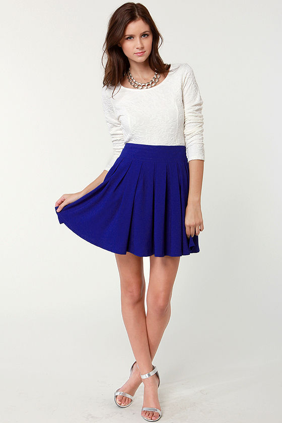 On and On Royal Blue Skirt at Lulus.com!