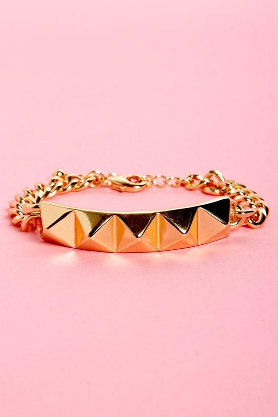 Stud-den Urge Studded Gold Bracelet at Lulus.com!