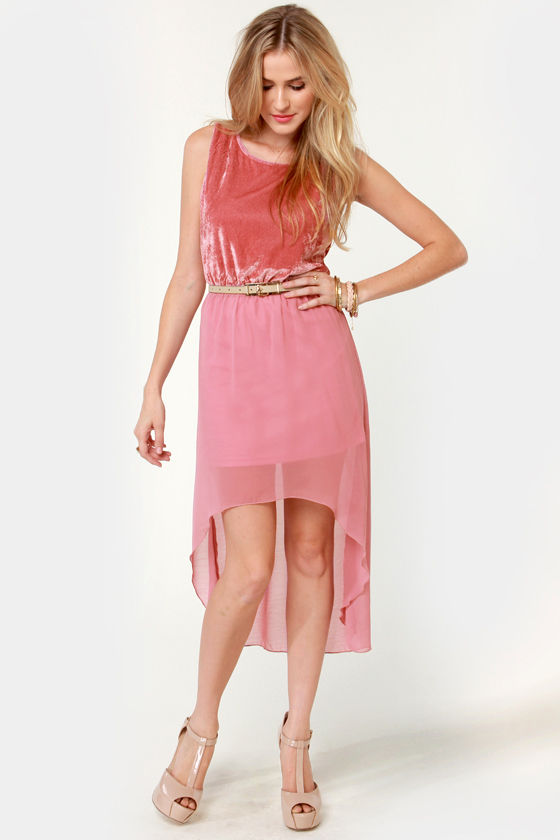Rose Parade Pink Velvet Dress at Lulus.com!