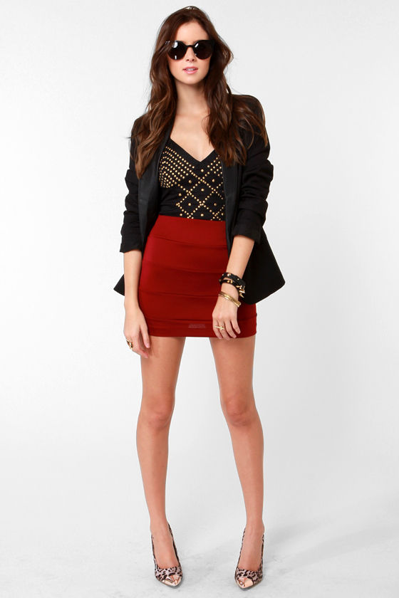 Stay Sassy Studded Black Bustier Top at Lulus.com!