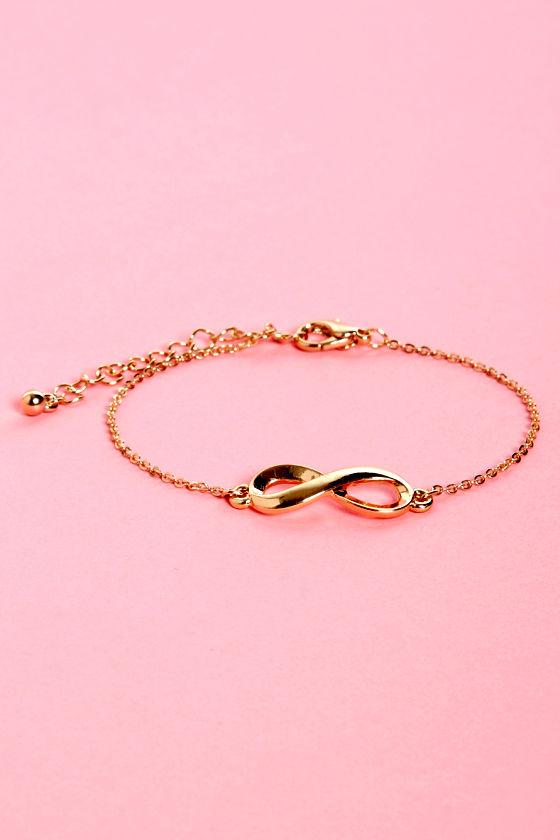Pretty Gold Bracelet Charm Bracelet Infinity Bracelet 1000