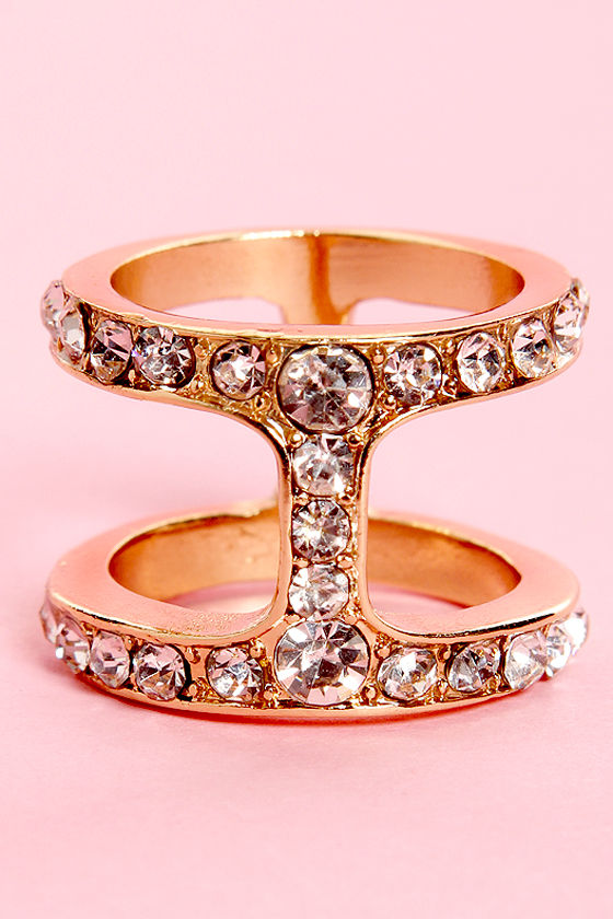 I on the Prize Gold Rhinestone Ring at Lulus.com!