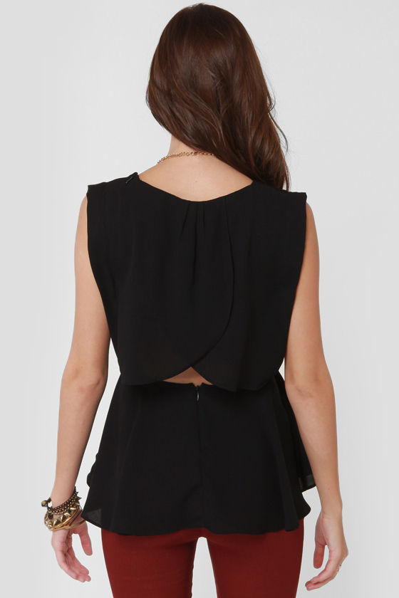 Swoop Ba-Doop Black Top at Lulus.com!