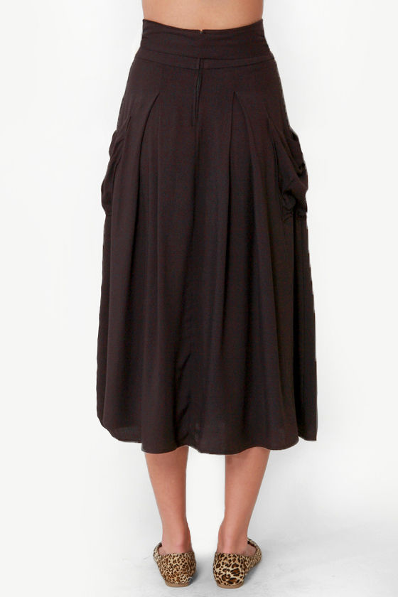 Sweetbriar Black Midi Skirt at Lulus.com!