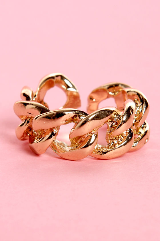 You Better Link Gold Chain Ring at Lulus.com!