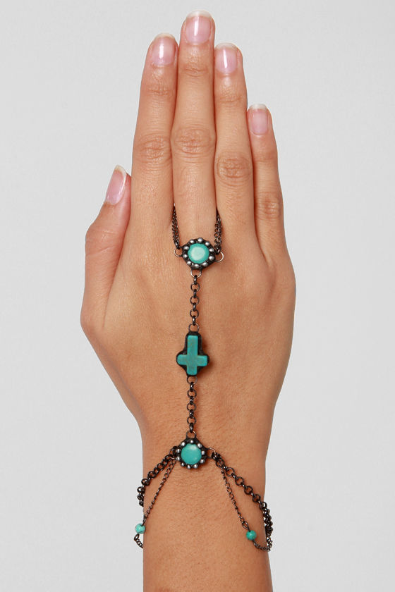 Gypsy Junkies Turquoise Harness Bracelet at Lulus.com!