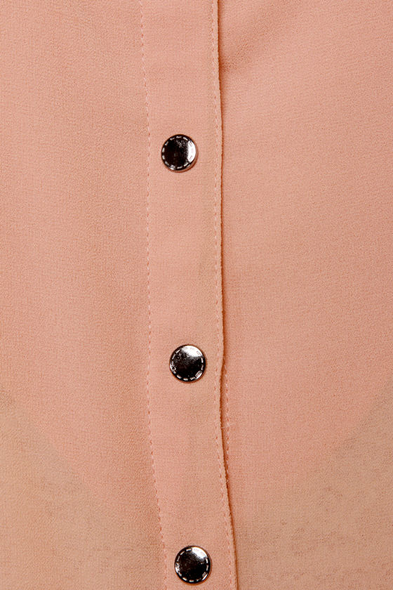 Just a Crush Blush Studded Top at Lulus.com!