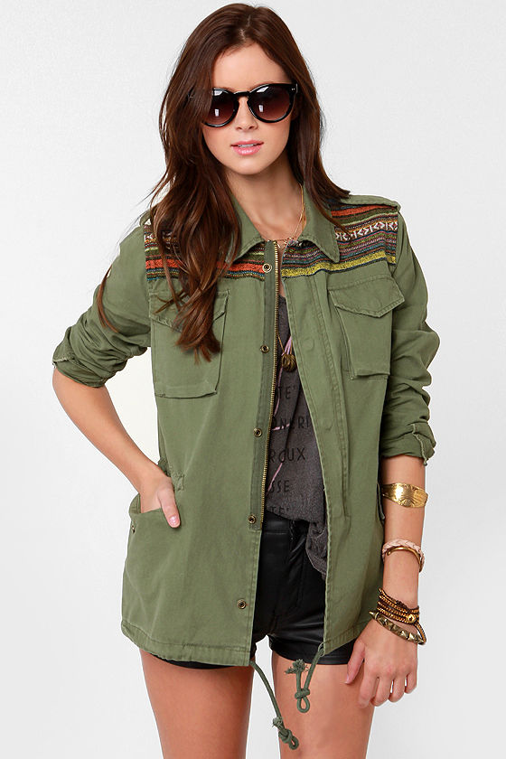 Squad Leader Guatemalan Print Military Jacket at Lulus.com!