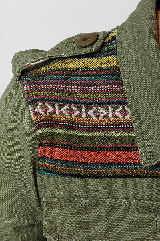 Squad Leader Guatemalan Print Military Jacket at Lulus.com!