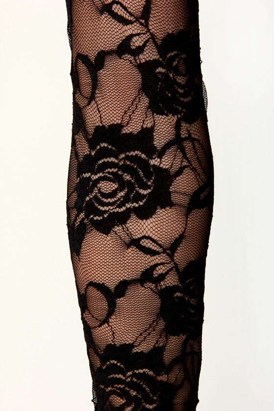 Finer Thing Black Velvet and Lace Top at Lulus.com!