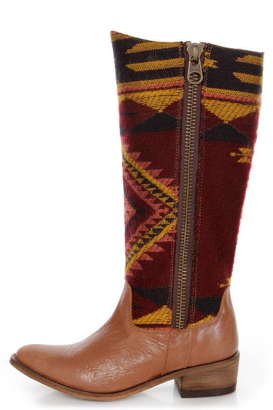 71926547ebe Steve Madden Graced Aztec Multi Southwest Print Cowboy Boots -  189.00