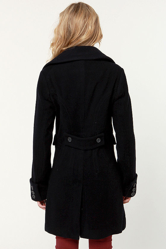 Black Sheep Legend Dark Navy Blue Coat at Lulus.com!