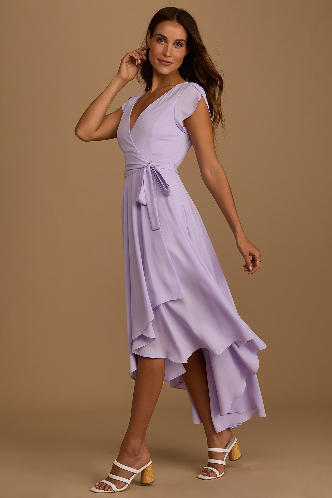 French Countryside Lavender High-Low Dress