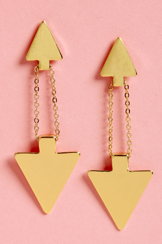 What's Up? Gold Arrow Earrings at Lulus.com!
