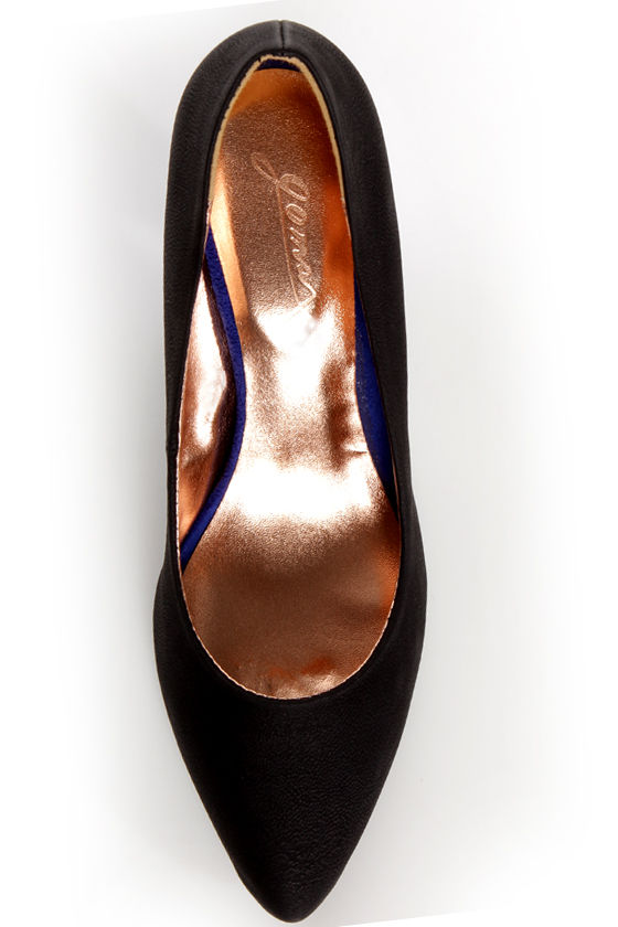 GoMax Zenith 01X Black and Blue Kitten Heels at Lulus.com!