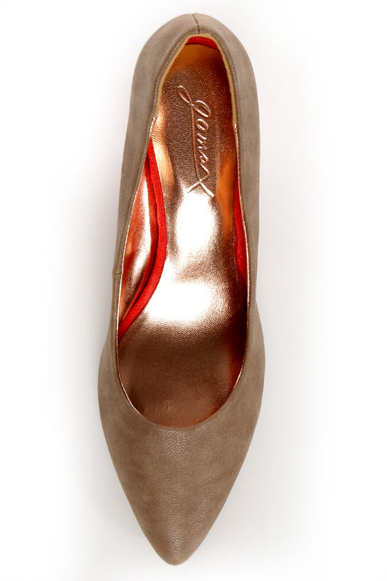 GoMax Zenith 01X Taupe and Orange Kitten Heels at Lulus.com!