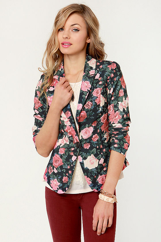 Rose to the Occasion Floral Blazer at Lulus.com!