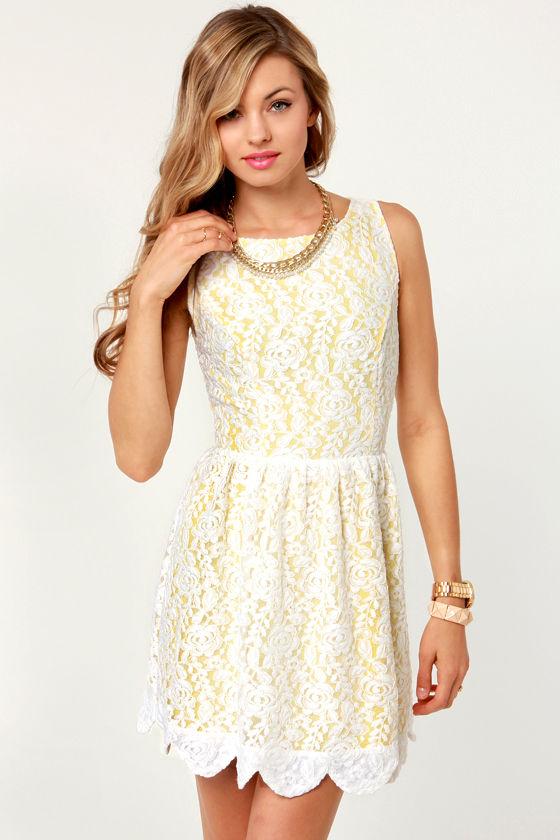 def1879ca40 Pretty Lace Dress - White Dress - Backless Dress -  70.00