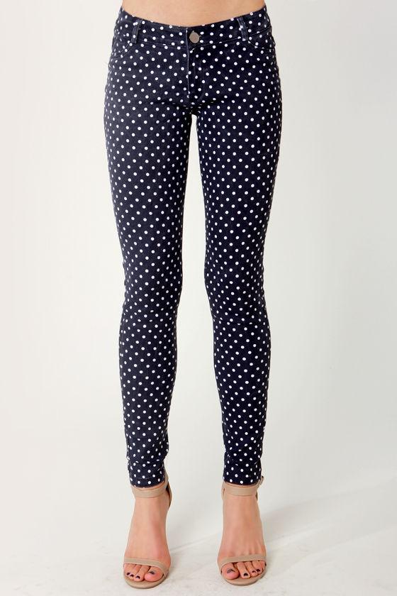 78508dab4 Adorable Polka Dot Jeans - Polka Dot Pants - Skinny Jeans - Jeggings ...