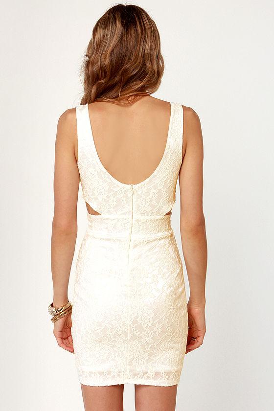 Set to Stun Cutout Ivory Dress at Lulus.com!