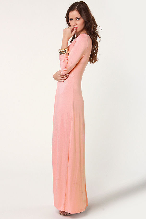 With a Twist Light Pink Maxi Dress at Lulus.com!