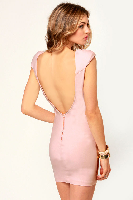Clout and About Light Pink Backless Dress at Lulus.com!