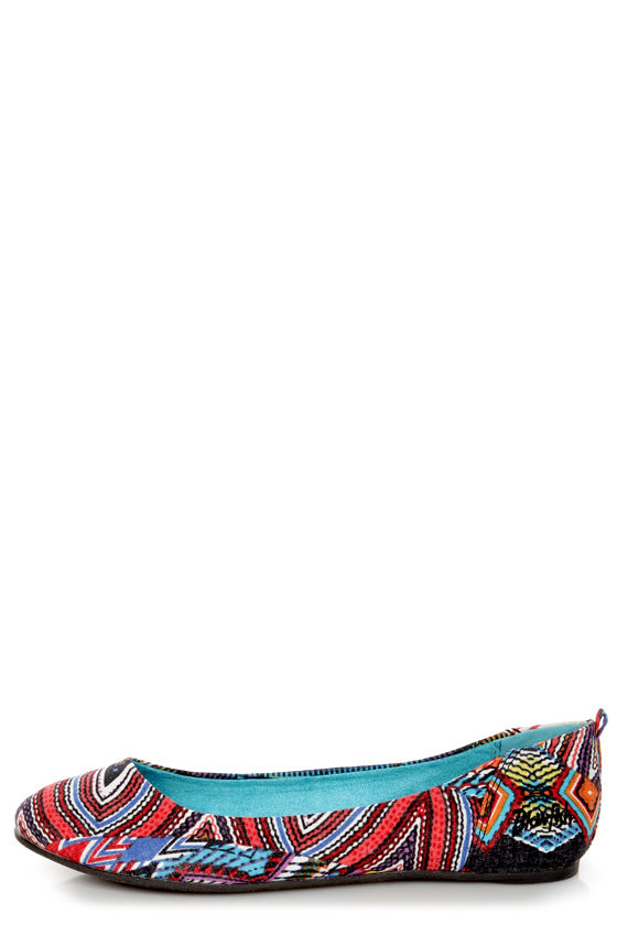 Blowfish Nice Black Nairobi Print Fabric Ballet Flats at Lulus.com!